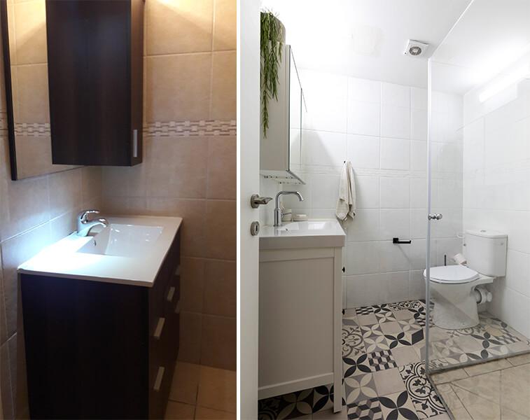 לפני ואחרי- חדר הרחצה