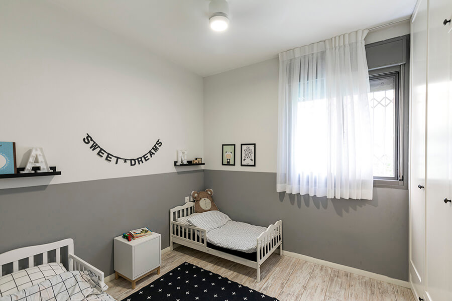 חדר ילדים פשוט ונעים