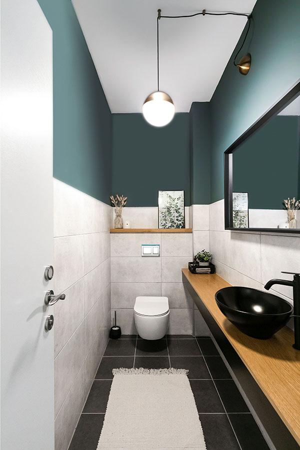 צבע מקפיץ בשירותי אורחים | צילום: יאנה דודלר